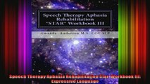 Speech Therapy Aphasia Rehabilitation Star  Workbook III Expressive Language