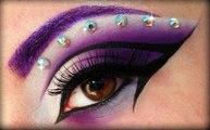 Purple Cut Crease with Diamonds Makeup Tutorial