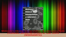 PDF Download Widmanns Clinical Interpretation of Laboratory