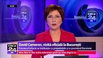 Premierul Marii Britanii vizitează România. David Cameron a avut o întrevedere la Guvern cu prim-ministrul Dacian Cioloş, apoi a mers la Cotroceni pentru discuții cu președintele Klaus Iohannis.