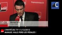 Manuel Valls perd les pédales ou quand la vérité est trop dure à cacher