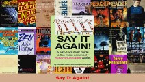Read  Say It Again EBooks Online