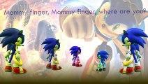 Sonic The Hedgehog Finger Family Song Daddy Finger Nursery Rhymes Power Ring Full animated catoonTV!