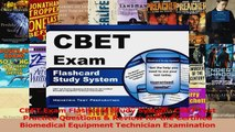 CBET Exam Flashcard Study System CBET Test Practice Questions  Review for the Certified Read Online