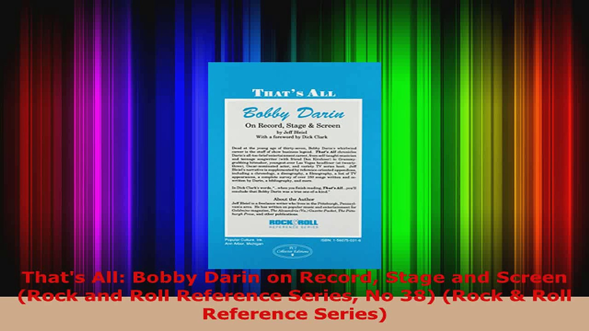 Download  Thats All Bobby Darin on Record Stage and Screen Rock and Roll Reference Series No 38 PDF