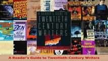 Read  A Readers Guide to TwentiethCentury Writers Ebook Free