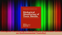 Biological Monitoring of Toxic Metals Rochester Series on Environmental Toxicity PDF