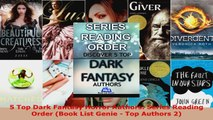 Read  5 Top Dark Fantasy Horror Authors Series Reading Order Book List Genie  Top Authors 2 Ebook Free