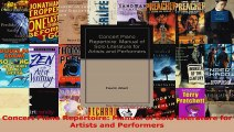 Read  Concert Piano Repertoire Manual of Solo Literature for Artists and Performers Ebook Free
