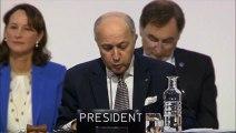 COP 21: Fabius propose un accord pour limiter le réchauffement climatique à 1,5°