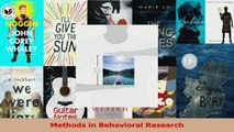 Methods in Behavioral Research PDF