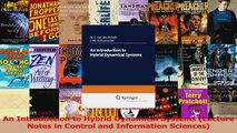 Read  An Introduction to Hybrid Dynamical Systems Lecture Notes in Control and Information Ebook Free