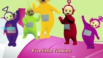 Five Little Tubbies Jumping on The Bed Teletubbies Nursery Rhyme for children