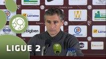 Conférence de presse FC Metz - Dijon FCO (1-2) : José RIGA (FCM) - Olivier DALL'OGLIO (DFCO) - 2015/2016