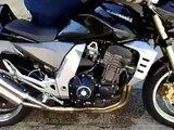 Z1000 Awesome Burning flames  sound crash stunt exhaust Top speed Kawasaki