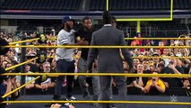 Booker T battles Brandon Carr in Spinaroonie off: WrestleMania On Sale Party, November 5,