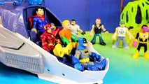 Imaginext Flash Superman Batman Flash Cyborg & Aquaman Try To Stop Injustice League Tryout