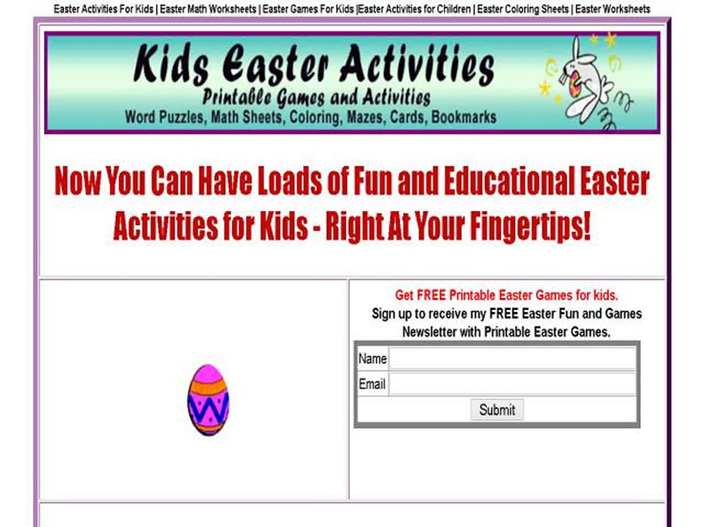 picture relating to Printable Easter Games named Small children Easter Pursuits - Printable Easter Actions And Game titles