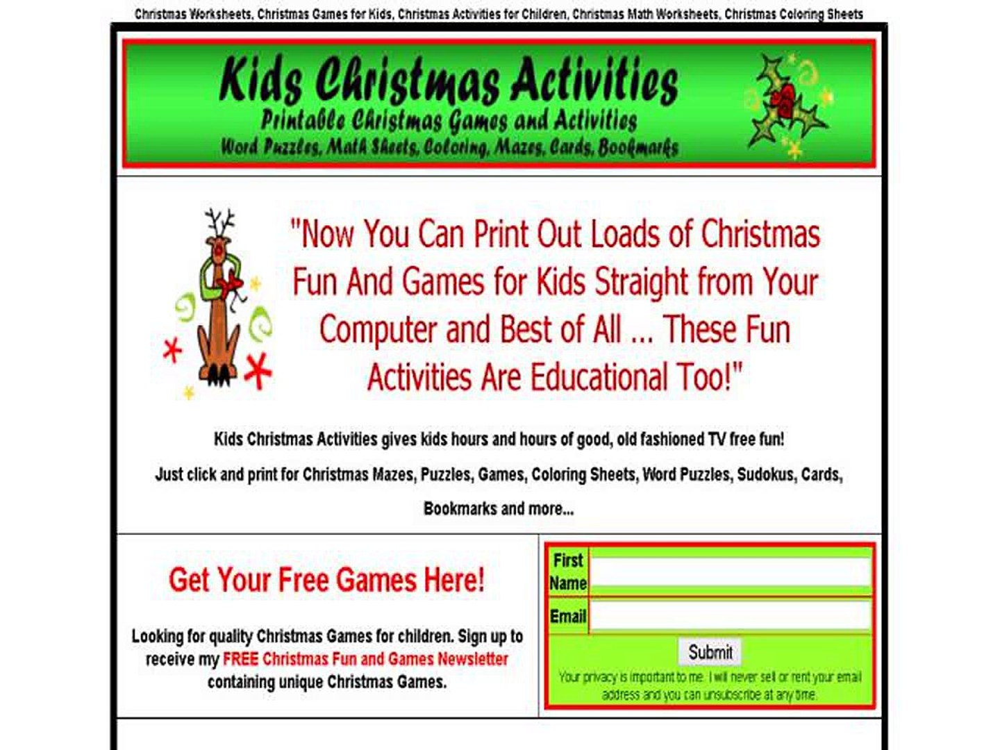 Kids Christmas Activities And Games
