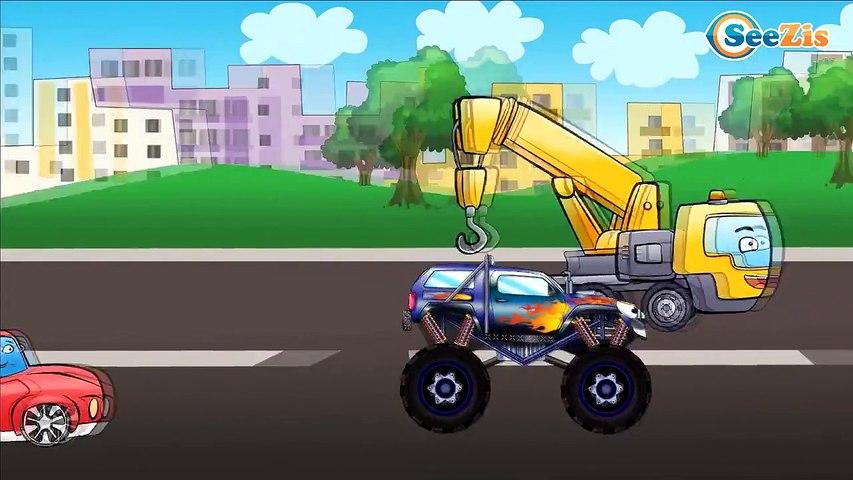 ✔ Мультики про машинки все серии. Пожарная машина и Полицейская машина - Cars Cartoons Compilation ✔