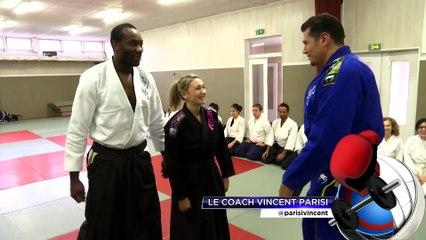 Vincent Parisi initie la troupe musical Madiba à l'Aikido sur beiN Sports.
