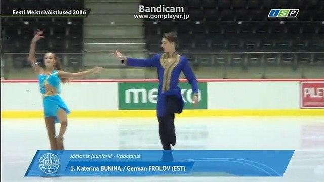 Katerina Bunina German Frolov 2016 Estonia Nats FD