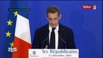 """Réaction Nicolas Sarkozy 2ème tour #régionales2015 : """"Les français attendent de nous des réponses qui nous engagent"""""""
