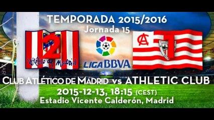 Jor.15: Atlético Madrid 2 - Athletic 1 (13/12/15)