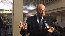 Stéphane Travert (PS) réagit à Saint-Lô après la victoire de la droite en Normandie