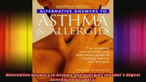 Alternative Answers to Asthma and Allergies Readers Digest Alternative Answers