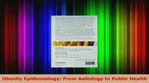 Read  Obesity Epidemiology From Aetiology to Public Health Ebook Online