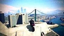 INCREDIBLE BIKE STUNT LANDING! GTA 5 Online HOLY PLAIN JUMP Stunts by RedKeyMon