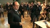 Régionales : François Hollande a failli se prendre un coup de béquille au bureau de vote !