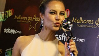 Nossa Diva Paolla Oliveira leva trofeu Melhores do Ano pela interpretação da Danny Bond de