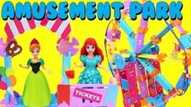 Disney Princess MagiClip Dolls Ride Roominate Ferris Wheel & Amusement Park + Barbie & Pol