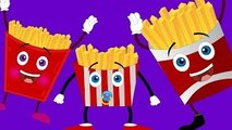 French Fries Finger Family Nursery Rhyme | Finger Family Songs | The French Fries Family