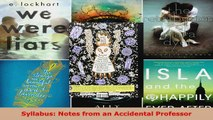Read  Syllabus Notes from an Accidental Professor Ebook Free