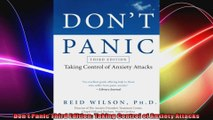 Dont Panic Third Edition Taking Control of Anxiety Attacks
