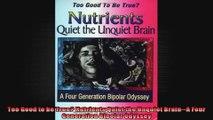 Too Good to be True Nutrients Quiet the Unquiet BrainA Four Generation Bipolar Odyssey