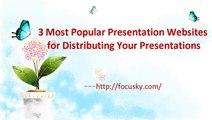 100% Free Presentation Website for Distributing Your Presentations