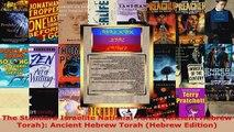 Download  The Standard Israelite National Torah Ancient Hebrew Torah Ancient Hebrew Torah Hebrew PDF Online