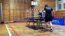 Adrian Bauer (MSV II) vs. René Schlegel (TTV Erlbach 1984 5)