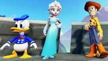 Woody Toys Story & Donald Duck saves Frozen Elsa The Snow Queen !! (with Nursery Rhymes)