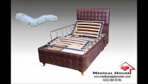 Medikal House - Carina Ev Tipi Elektrikli Motorlu Hasta Karyolası (Korkuluklu ve Ortopedik Ev Tipi Hasta Yatağı Dahil)