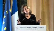 Rapport d'activité 2015 - Discours Nathalie Mons