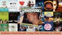 PDF Download  Sublimes Brad Nowell Crazy Fool Portrait of a Punk Download Online