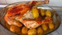 POLLO AL HORNO RELLENO - recetas de cocina navidenas faciles y economicas - Comidas rapidas de hacer