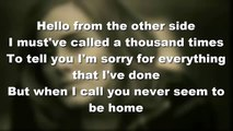 Adele Hello Lyrics (audio) - Hello Adele (Lyrics Video) Adele - Hello