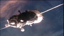 Manual Docking for Soyuz TMA-19M as Automated Docking Aborted