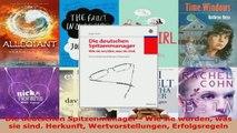 Lesen  Die deutschen Spitzenmanager  Wie sie wurden was sie sind Herkunft Wertvorstellungen Ebook Frei